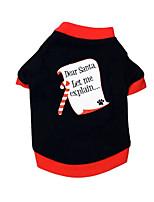 Cane T-shirt Abbigliamento per cani Casual Geometrico Nero