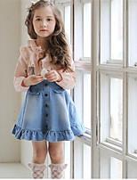 Vestido Chica de Cumpleaños Casual/Diario Un Color Otro Sin Mangas Primavera