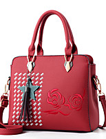 Women Bags Winter All Seasons PU Shoulder Bag with Zipper for Casual Office & Career Blushing Pink Dark Blue Dark Green Wine Khaki