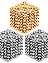 216 * giocattolo magico del blocchetto di puzzle del magnete del cubo del branello della sfera delle sfere magnetiche diy 3pcs 3mm arancione & argento