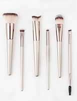 6PCS Contour Brush Makeup Brush Set Blush Brush Eyeshadow Brush Lip Brush Brow Brush Concealer Brush Powder Brush Foundation Brush