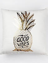 1Pcs Gilding Printing Pineapple Pattern Pillow Cover Sofa Cushion