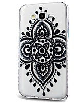 For Case Cover Ultra-thin Transparent Pattern Back Cover Case Lace Printing Soft TPU for Samsung Galaxy J7 (2016) J7 (2017) J7 V J7 Perx