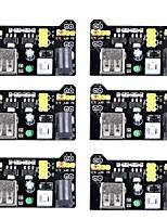 MB102 3.3V/5V Breadboard Power Supply Module for Arduino Board Solderless Breadboard (Pack of 6)