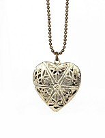 Women's Pendant Necklaces Locket Heart Alloy Love Jewelry For Party Halloween