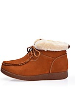 Women's Shoes Suede Fall Winter Fluff Lining Snow Boots Boots For Casual Outdoor Wine Brown Black