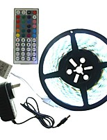 5M 300x5050LED Strip Light Sets Waterproof RGB 44 key controller AC100-240V AU / EU / US / UK Power Plug  DC12V 2A