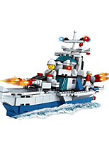 Building Blocks Toys Novelty Warship Pieces Not Specified Gift