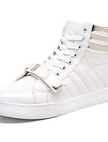 Men's Shoes PU Spring Fall Comfort Sneakers Lace-up For Casual Outdoor Black White