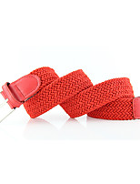 Unisex Alloy Waist Belt,Irregular Style Color Block Floral