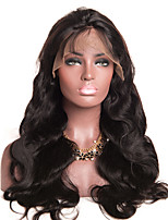 Women Human Hair Lace Wig Peruvian Human Hair Glueless Lace Front 130% Density With Baby Hair Body Wave Wig Medium Brown Dark Brown Black