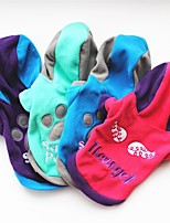 Dog Hoodie Dog Clothes Casual/Daily Geometic Blue Green Fuchsia Purple