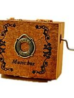 Music Box Toys Round Plastics Wood Pieces Unisex Birthday Valentine's Day Gift