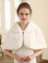 Women's Wrap Capelets Faux Fur Wedding Party/ Evening Fur Plaid