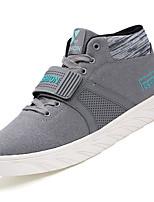 Для мужчин обувь Замша Осень Зима Удобная обувь Вулканизованная обувь Кеды Шнуровка Назначение Атлетический Повседневные Черный