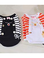 Dog Sweatshirt Dog Clothes Casual/Daily Princess Black/White Orange