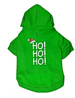 Dog Hoodie Dog Clothes Casual/Daily Letter & Number Green