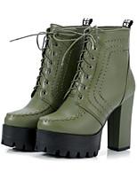 Da donna Scarpe PU (Poliuretano) Autunno Inverno Stivali Stivaletti alla caviglia Comoda Innovativo Stivaletti Quadrato Punta tonda