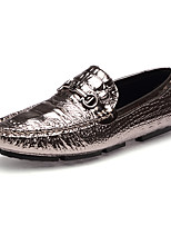 Men's Shoes Real Leather Fall Winter Driving Shoes Loafers & Slip-Ons Tassel(s) For Casual Party & Evening Blue Silver Black