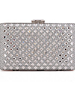 Women Bags All Seasons Polyester Evening Bag Crystal Detailing Sequins for Wedding Event/Party Gold Black Silver