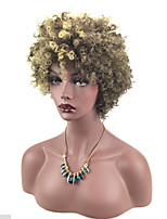 Women Synthetic Wig Capless Short Curly Blonde Natural Wigs Costume Wig