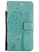 Недорогие -Кейс для Назначение OnePlus Один плюс 3 Бумажник для карт Кошелек со стендом Флип С узором Чехол Кот дерево Твердый Кожа PU для One Plus