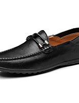 Men's Shoes Synthetic Microfiber PU Spring Fall Moccasin Loafers & Slip-Ons For Casual Brown Yellow Black
