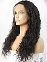 Donna Parrucche di capelli umani con retina Brasiliano Remy 360 frontale 150% 180% Densità Taglio scalato Riccio Parrucca Nero