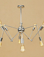 Northern Europe Modern Retro Chandelier 8 heads Metal Electroplated Molecules Pendant Lights Bedroom Light Fixture