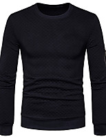 Men's Going out Casual/Daily Simple Sweatshirt Solid Round Neck Micro-elastic Cotton Long Sleeve Fall Winter