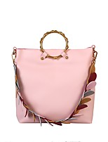 Women Bags All Seasons PU Shoulder Bag for Wedding Event/Party Casual Formal Outdoor Black Blushing Pink Yellow Sky Blue