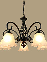 European Contracted Sitting Room Pendant Iron Art Modern Rural Mediterranean Restaurant Bedroom Absorb Dome Light