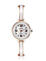 Mujer Reloj de Vestir Reloj de Moda Simulado Diamante Reloj Japonés Cuarzo Aleación Banda Encanto Casual Elegantes Negro Blanco Rosa