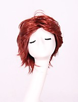 Women Synthetic Wig Capless Short Wavy Straight Red Party Wig Halloween Wig Cosplay Wig Natural Wigs Costume Wig