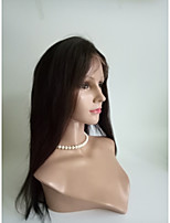 Women Synthetic Wig Lace Front Long Straight Dark Brown Black Medium Brown Natural Wigs Costume Wig