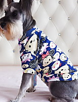 Dog Shirt / T-Shirt Dog Clothes Casual/Daily Cartoon Light Blue Navy Blushing Pink Blue Red