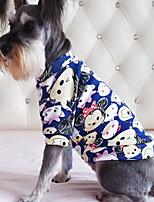 Cachorro Camiseta Roupas para Cães Casual Desenhos Animados Vermelho Azul Rosa claro Azul marinho Azul Claro