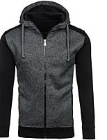 Sweat à capuche Homme Sortie Décontracté / Quotidien simple Chic de Rue Couleur Pleine Micro-élastique Coton Polyester Manches longues
