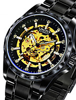 Men's Mechanical Watch Automatic self-winding Noctilucent Alloy Band Black