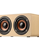 W5 Mini Style Bluetooth 3.5mm AUX Bookshelf Speaker Brown Beige