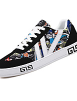Men's Shoes Breathable Mesh Fabric Spring Fall Comfort Sneakers Lace-up For Casual Office & Career Black/Blue Black/Red Black/White