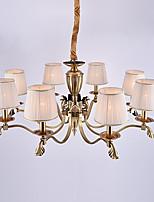 europa otto teste amercian classico lampadario a bracci in rame per il soggiorno / camera da letto / sala mensa / foyer lampada di lusso