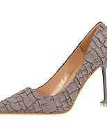 Damen Schuhe Wildleder Frühling Herbst Komfort High Heels Stöckelabsatz Spitze Zehe Für Kleid Grau Rot Grün Leicht Rosa Khaki