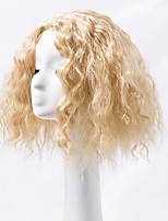 Women Synthetic Wig Capless Medium Kinky Straight Blonde Middle Part Natural Wigs Costume Wig