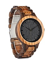Men's Women's Fashion Watch Wrist watch Wood Watch Japanese Quartz Chronograph Water Resistant / Water Proof Large Dial Wood Band Vintage