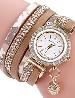 Damen Kinder Modeuhr Armband-Uhr Armbanduhren für den Alltag Chinesisch Quartz Chronograph Wasserdicht PU Band Bequem Kreativ Schwarz