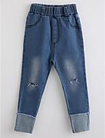 Jungen Jeans einfarbig Baumwolle Herbst