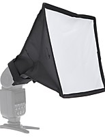 andoer 20 * 30cm / 7.9 * 11.8in bærbar fotografering flash diffuser mini softbox kit til dslr speedlite flash