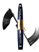 MaEyes Makeup 3D Fiber Mascara 2 Head in One Natural & Curling Magic Extended Eyelashes Black Thick Waterproof Mascara