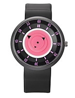 Men's Women's Fashion Watch Quartz Silicone Band Casual Black